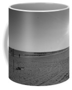 Coney Island Beach In Black And White Coffee Mug