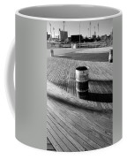 Coney Island Boardwalk In Black And White Coffee Mug