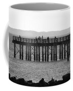 Coney Island Pier In Black And White Coffee Mug