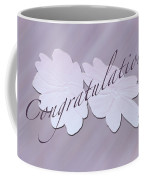 Congratulations Greeting Card - New Guinea Impatiens Coffee Mug