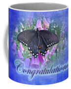 Congratulations Greeting Card - Spicebush Swallowtail Butterfly Coffee Mug