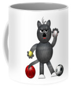 Cool Alley Cat Athlete Coffee Mug by Rose Santuci-Sofranko