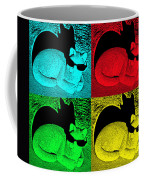 Cool Cat Pop Art Coffee Mug