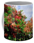 Coral Shower Trees Coffee Mug