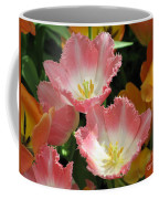 Coral Tulips Coffee Mug