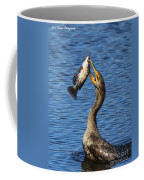 Cormorant Catches Catfish Coffee Mug