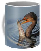 Cormorant With Large Fish Coffee Mug