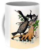 Cormorants On Mangrove Stumps Filtered Coffee Mug