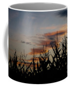Corn Field With Orange Clouds Coffee Mug