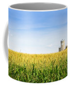 Corn Field With Silos Coffee Mug