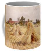 Corn Stooks By Bray Church Coffee Mug by Heywood Hardy