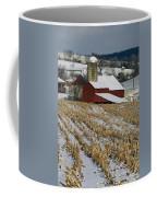 Corn Stubble And Barn In A Wintery Coffee Mug