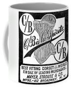 Corset Advertisement, 1888 Coffee Mug