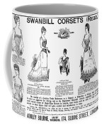 Corset Advertisement, 1892 Coffee Mug