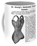 Corset Advertisement, 1895 Coffee Mug