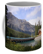 Crossing Emerald Lake Bridge - Yoho Nat. Park, Canada Coffee Mug