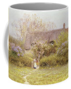 Cottage Freshwater Isle Of Wight Coffee Mug by Helen Allingham