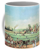 Cotton Plantation On The Mississippi Coffee Mug by Photo Researchers