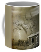 Country Horses Lightning Storm Ne Boulder Co 66v Bw Art Coffee Mug