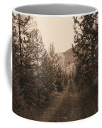 Country Road In Sepia  Coffee Mug