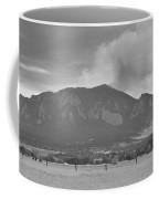 Country View Of The Flagstaff Fire Panorama Bw Coffee Mug