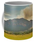 Country View Of The Flagstaff Fire Panorama Coffee Mug
