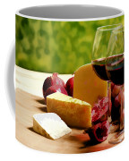 Countryside Wine  Cheese And Fruit Coffee Mug by Elaine Plesser
