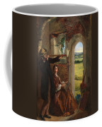 Couple Observing A Landscape Coffee Mug by English School