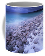 Covered With Snow Pebbled Shore Of Georgian Bay Coffee Mug