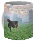 Cow On The Foggy Field Coffee Mug