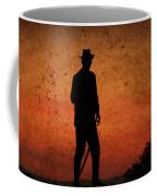 Cowboy At Sunset Coffee Mug