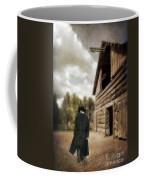 Cowboy Walking By Barn Coffee Mug