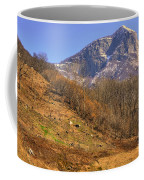 Cowhouse And Snow-capped Mountain Coffee Mug