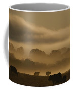 Cows Are Silhouetted In A Field Coffee Mug