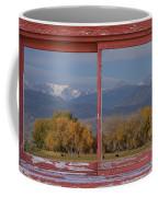 Cows Life Colorado Autumn Rocky Mountains Picture Window Art Coffee Mug