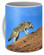 Coyote Climbs Mountain Coffee Mug