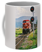 Cp Coal Train And Signal Coffee Mug