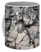 Cracked Rocks On Shore Coffee Mug