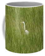 Crane In The Tall Grass On Assateague Island Maryland Coffee Mug