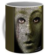 Creepy Cracked Face With Tears Coffee Mug
