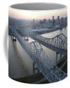 Crescent City Connection Bridge Coffee Mug by Tyrone Turner