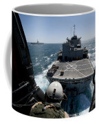 Crewman Guides The Pilots Of An Hh-60h Coffee Mug