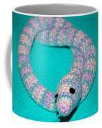 Crochet Snake In Blue Coffee Mug