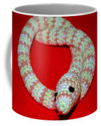 Crochet Snake In Red Coffee Mug