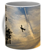 Crop Duster Under The Jet Trail Coffee Mug