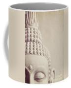 Cropped Stone Buddha Head Statue Coffee Mug by Lyn Randle