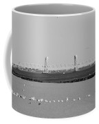 Cross Bay Bridge In Black And White Coffee Mug