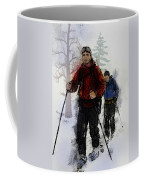 Cross Country Skiers Coffee Mug