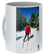 Cross-country Skiing, Lake Placid, New Coffee Mug