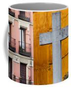 Cross In The City Of Madrid Coffee Mug